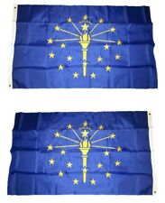 3x5 Embroidered State of Indiana 220D Sewn Nylon Flag 3'x5' Double Sided