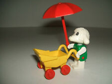 Lego Fabuland 3602 - Bianca Lamb & Stroller Pram - 1980