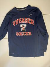 Boys voyager soccer long-sleeved Nike shirt size large Dry Fit Shirt Exercise