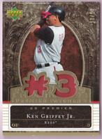 KEN GRIFFEY JR 2007 UPPER DECK PREMIER PATCHES GOLD DUAL PATCH #50/56 REDS