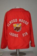 Elwood Moose Lodge 219 Mens Red Nylon Windbreaker Jacket XL Sewn not Printed