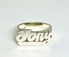 Personalized Name Ring in Sterling Silver with Straight Tail