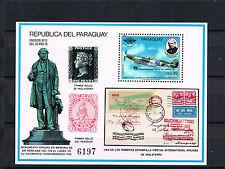 Paraguay 1980 Block 351 Rowland Hill/Luftfahrt schon Postfrisch
