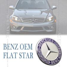 MERCEDES BENZ OEM STAR FLAT HOOD BONNET FRONT EMBLEM for C CLK CLS E S SL AMG