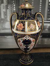 Royal Crown Derby Old Imari 1128 Double Handle Urn / Vase / Trophy  1912 A/F