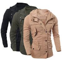 Warm Winter Casual Vogue Men Military Jacket Coat Slim Fit Outwear Overcoat