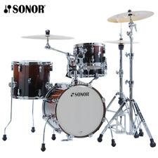 NEW Sonor AQ2 Series 4 Piece SAFARI Drum Set Shell Pack Brown Fade