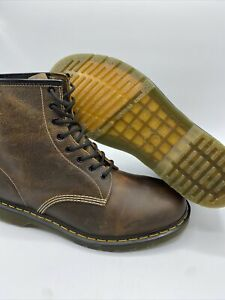 NWT Dr. Martens 1460 Distressed Leather Boot Tan Brown US Mens Size 14 Hobo Chic