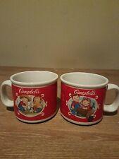 Campbell's Kids Soup Mugs 2002 Spring & Summer Harvest Scenes Set Of 2