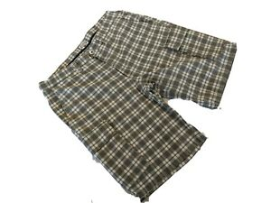 North Sails grey checked cotton cargo shorts. Sailing or golf Size 50 34 waist