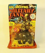 Vintage 1970s Ahi Azrak Hamway Wind Up Disc Shooting Military Tank