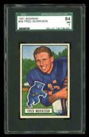 1951 Bowman #49 Fred Morrison Chicago Bears SGC 84 / 7 NM
