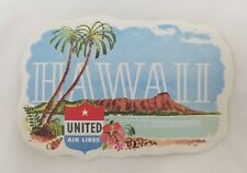 Hawaii United Airlines Vintage Luggage Label Travel Sticker