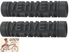 ODI YETI SPEED FLANGELESS BLACK BMX BICYCLE GRIPS