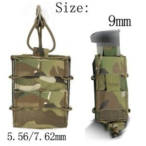 Tactical Magazine Mag pouch MC color Molle Bag Holder For 5.56 mm 7.62 mm 9 mm