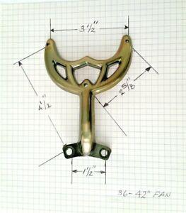 "42""Antique Brass Ceiling Fan Blade Arm Replacement Bracket, Hunter & Hampton Bay"