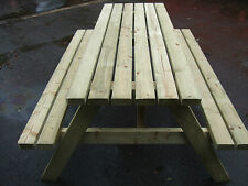 NEW HAND MADE 6FT PATIO GARDEN PUB PICNIC BENCH TABLE SEAT