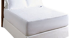 Serta Luxurious Sherpa Top Low-Voltage Electric Heated Mattress Pad Queen, White