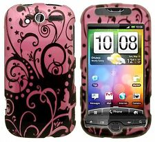 T-Mobile myTouch 4G Hard Protector Case Snap on Phone Cover Purple Black Swirl