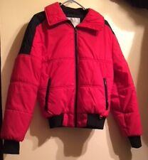 Vintage Black Bear Ski Jacket - Men's Medium - Insulated - Red