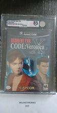 Resident Evil -- CODE: Veronica X (GameCube, 2003) VGA 8.5 NM+ RARE!