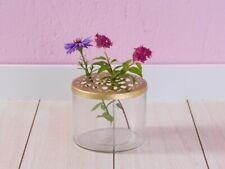 A Simple Mess Vase KASTANJE Glas Blumenvase GOLD Deckel Metall 8 cm Deko Skandin