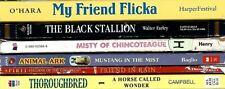 Lot 6 Horse Books for Kids: My Friend Flicka Black Stallion Misty Mustang Etc.