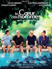 Affiche Pliée 40x60cm LE COEUR DES HOMMES 2003 Darmon Lavoine Darroussin NEUVE#