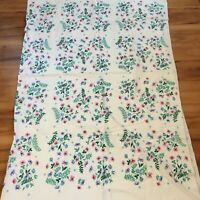 Pretty Vintage Floral Spring Tablecloth Country Cottage Home Decor Table Decor