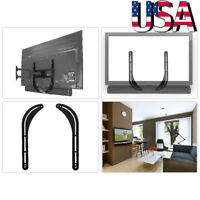 Universal Sound Bar Soundbar Speaker Bracket Mount Above Below TV Mount Holder