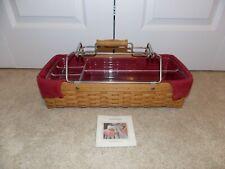 * Longaberger * 2004 Household Caddy Combo (Basket, Paprika Liner, Protector) Wb