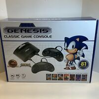 NEW Sega Genesis Classic Game Console 81 Built-In Games Includes Controllers