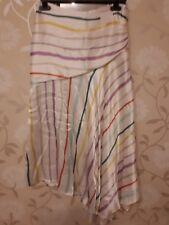 M&S Womens satin Skirt size 8 BNWT Per Una multi colour stripe