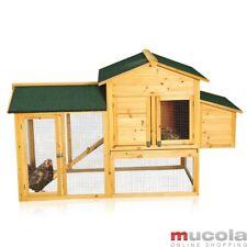 Hühnerstall Hühnerhaus Geflügelstall Hasenstall Freilauf Holz Kaninchenkäfig XXL