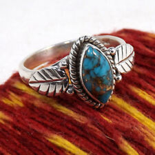 KD_ Marquise Cut Retro Crack Turquoise Leaf Jewelry Party Women Finger Ring Ch