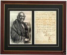 SAM HOUSTON Texas Mexican War Signed Letter Autograph