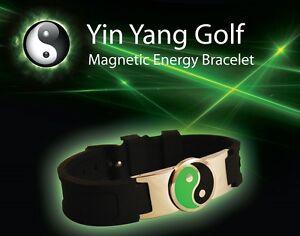 Yin Yang Golf magnetic energy bracelet bio power disc ball marker sport health g