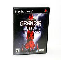 Grandia ii 2 (Sony PlayStation 2 PS2) CIB w/ Registration Card Attached MINTY!