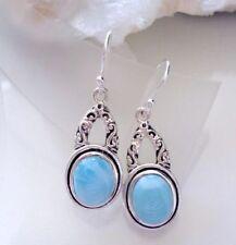 Ohrringe mit Larimar - 925er Silber - Blau