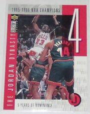 1997/98 Michael Jordan Upper Deck CC The Jordan Dynasty Insert Card #JO4 Ser #