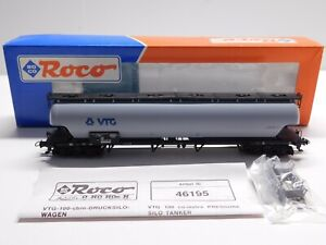 HO Scale - ROCO - #46195 DB VTG Pressure Silo Tank Wagon Tanker Train Car