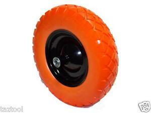 "16"" flat-free wheel barrow flat free tire Foamed Polyurethane wheelbarrow tire"