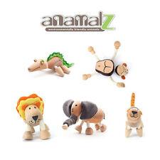 Elephant-Tiger-Lion-Gorilla-Crocodi All Natural Anamalz Toy Farm Animals 5PC New