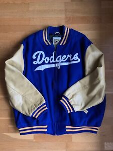 Mitchell & Ness 1952 Authentic Brooklyn Dodgers Wool Baseball Jacket - size 3XL