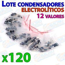 Lote 120 Condensadores electroliticos 1uF – 470uF 10 valores ±20% - Arduino Elec