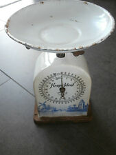 Alte Krups Ideal Küchenwaage orig Schale Waage D.R.G.M. Keramik Delfter Motiv