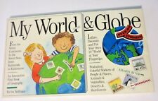 New MY WORLD & GLOBE Interactive Book of Geography, Inflatable Globe & Stickers