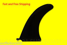 "10"" Center Fin Center Box Fin GlassFlex Black SUP Paddle board Longboard"