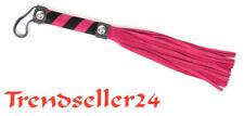 Peitsche 25 zügig weiches Velur Leder 25 cm Pink