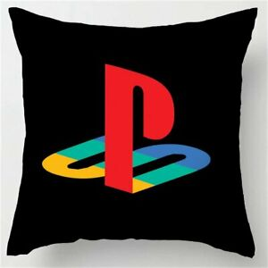 Black Art Design Playstation Buttons Pillow Case Novelty Gaming Home Decor multi